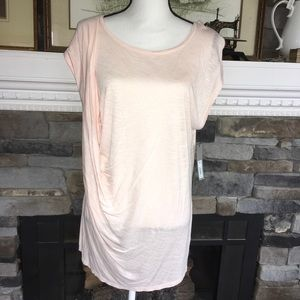Pale blossom drape front muscle tee XL